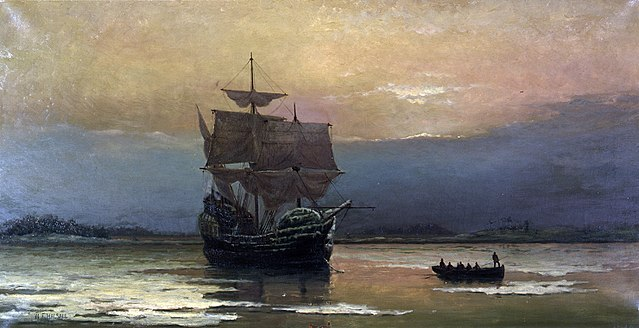 640px-Mayflower_in_Plymouth_Harbor,_by_William_Halsall